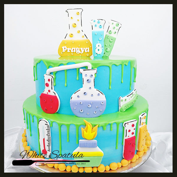 Science Buttercream Cake - White Spatula Singapore