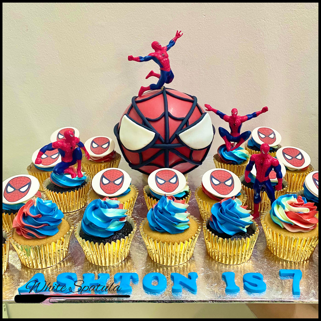 Spider Hero Pinata Surprise Cake