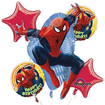 Spiderman Bouquet 5 Balloons - White Spatula Singapore