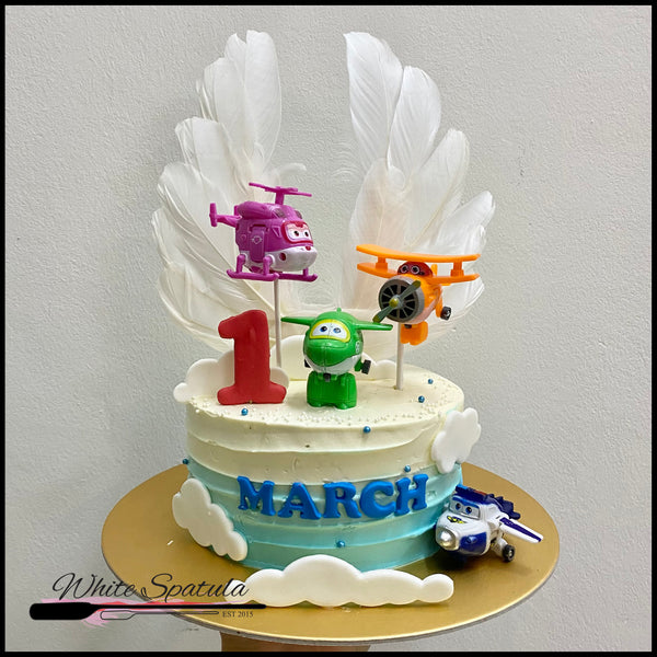 Airplane Wings Buttercream Cake