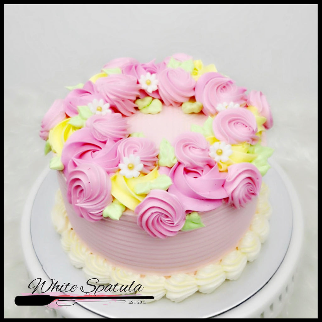 Floral Wreath Cake - White Spatula Singapore