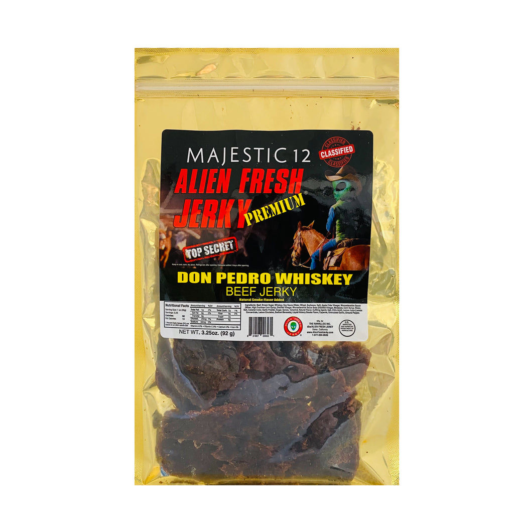 Box of 25 | Don Pedro Whiskey Beef Jerky  (3.25 oz)