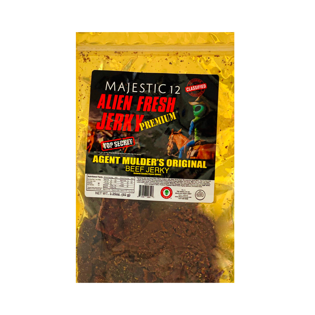 Box of 25 | Agent Mulder's Original Beef Jerky  (3.25 oz)