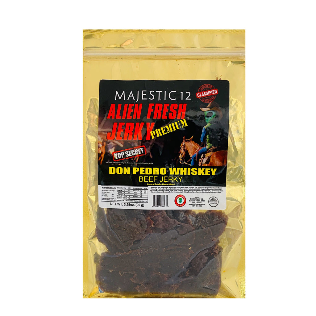 Majestic-12 | Don Pedro Whiskey Beef Jerky  (3.25 oz)