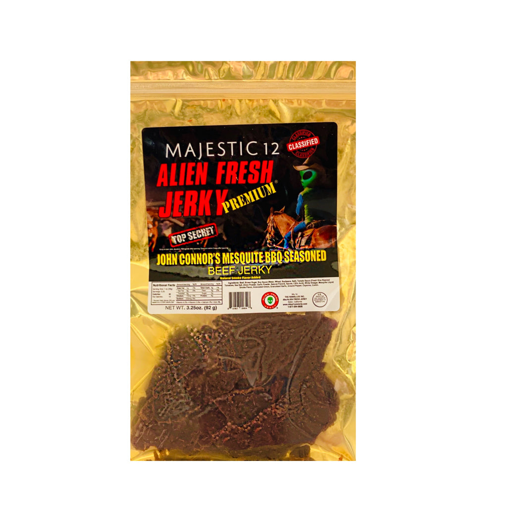 Box of 25 | John Connor's Mesquite BBQ Beef Jerky  (3.25 oz)