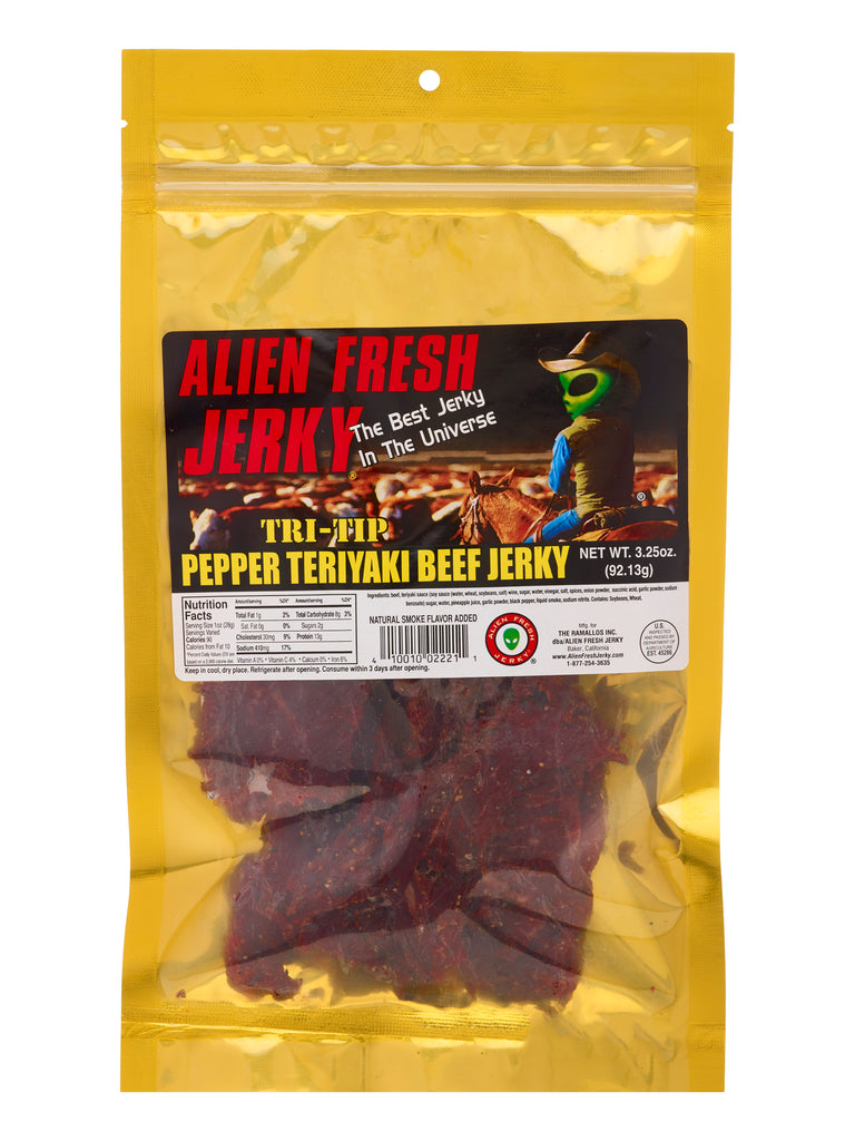 Tri-Tip Jerky - Peppered Teriyaki (3.25 oz)