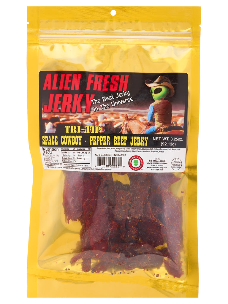 Tri-Tip Jerky - Space Cowboy Peppered (3.25 oz)