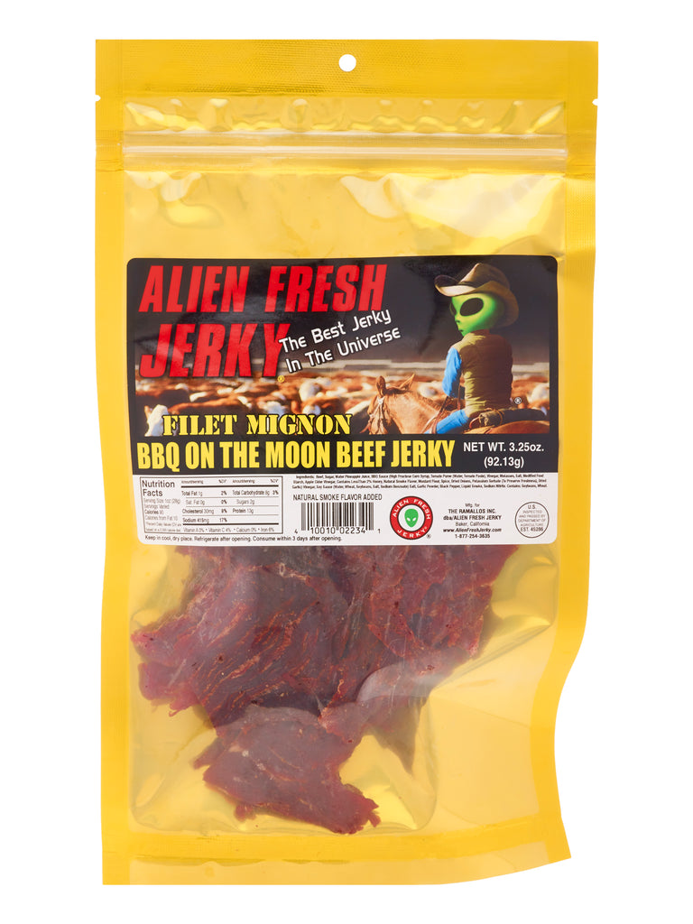 Filet Mignon Jerky - BBQ On The Moon (3.25 oz)