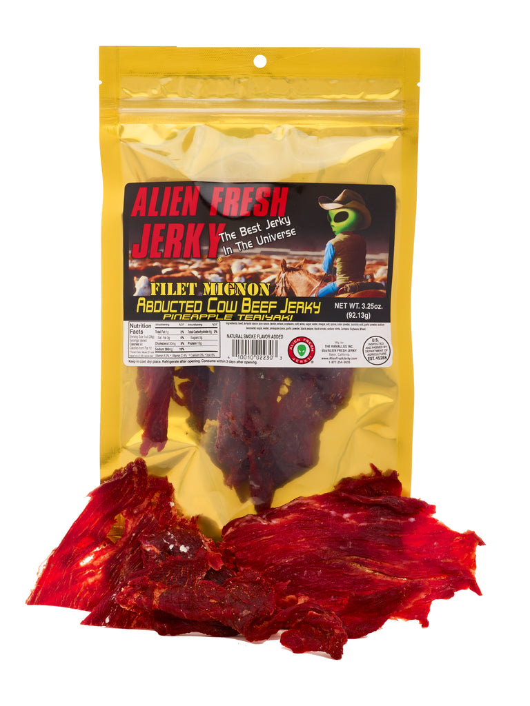 Filet Mignon Jerky - Abducted Cow Pineapple Teriyaki (3.25 oz)
