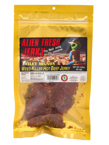 Filet Mignon Jerky - Weed Killer Hot (3.25 oz)