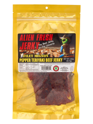 Filet Mignon Jerky - Peppered Teriyaki (3.25 oz)