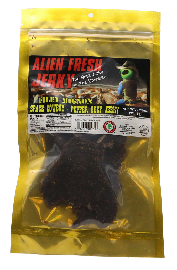 Filet Mignon Jerky - Space Cowboy Peppered (3.25 oz)