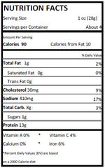 Abducted Cow Teriyaki Beef Jerky (4 oz) - Nutrition Facts
