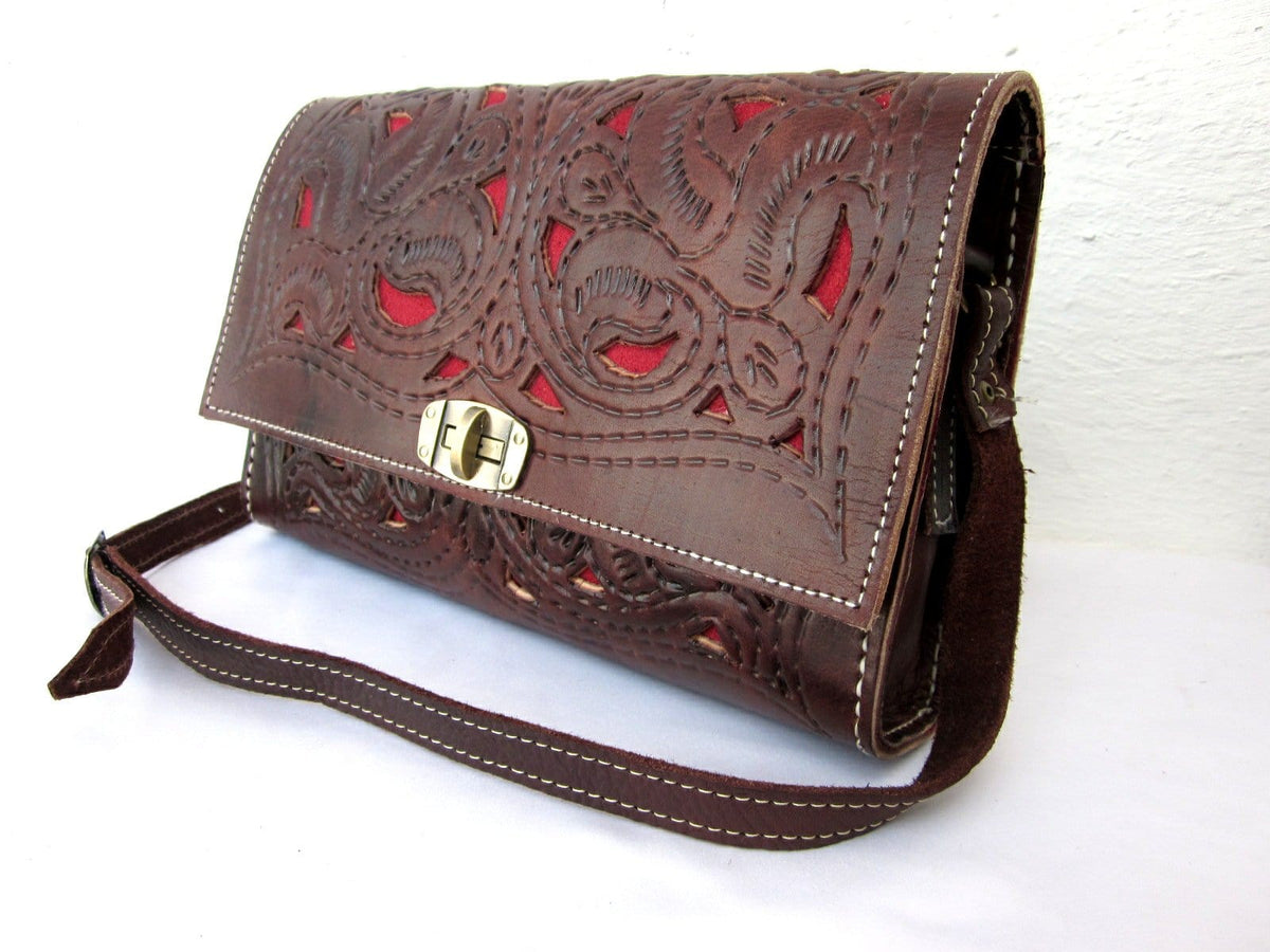 Handcut Leather Crossbody