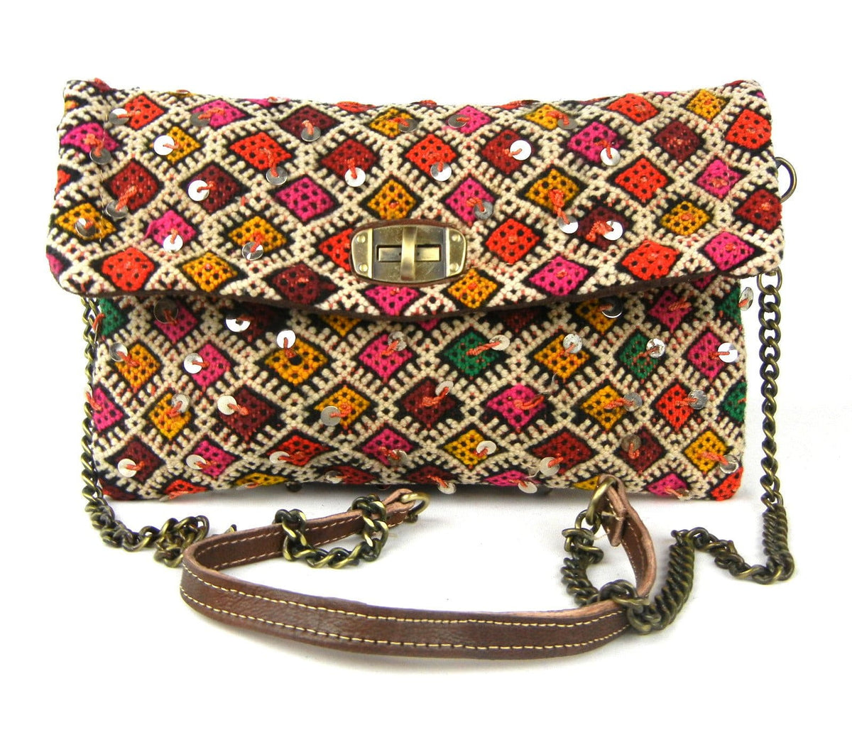 Kilim Clutch - Chainlink Crossbody #8