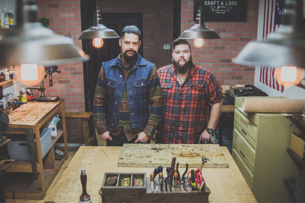 Craft and Lore handmade leather goods with Chad Von Lind and Michael Miles