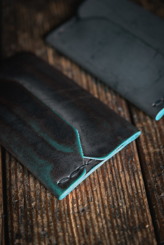 Black Green Ghost Wallet patina craft and lore Enfold Card
