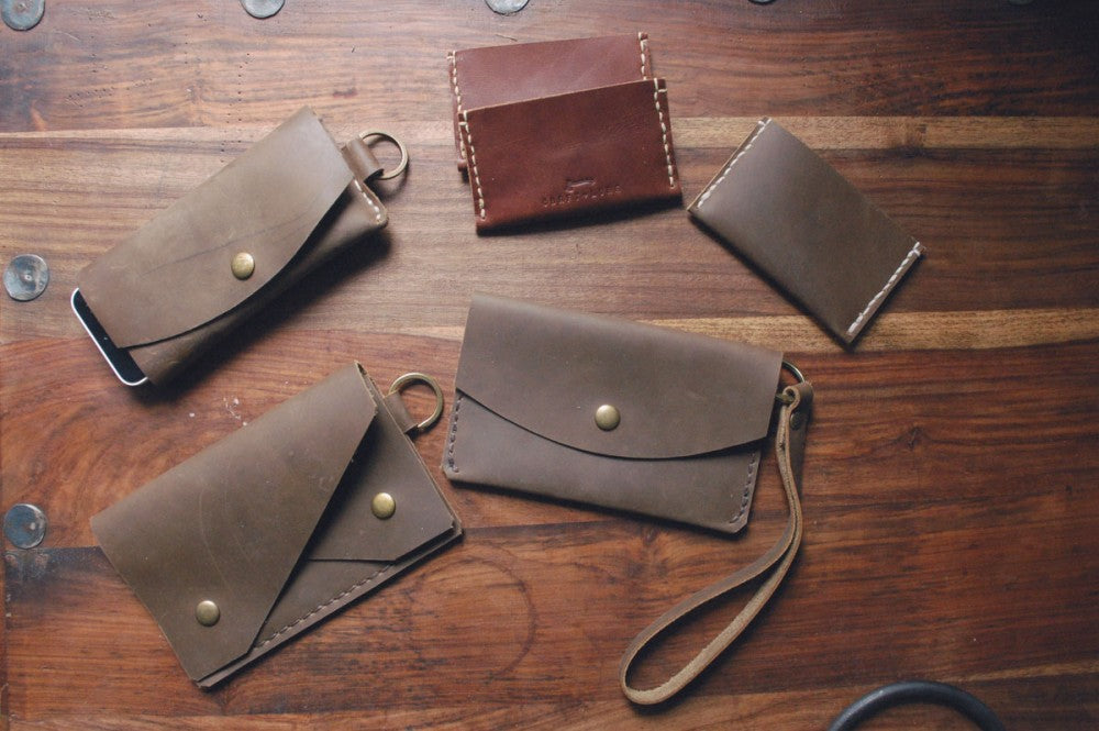 Handmade Leather Carry Goods on the Design Bench