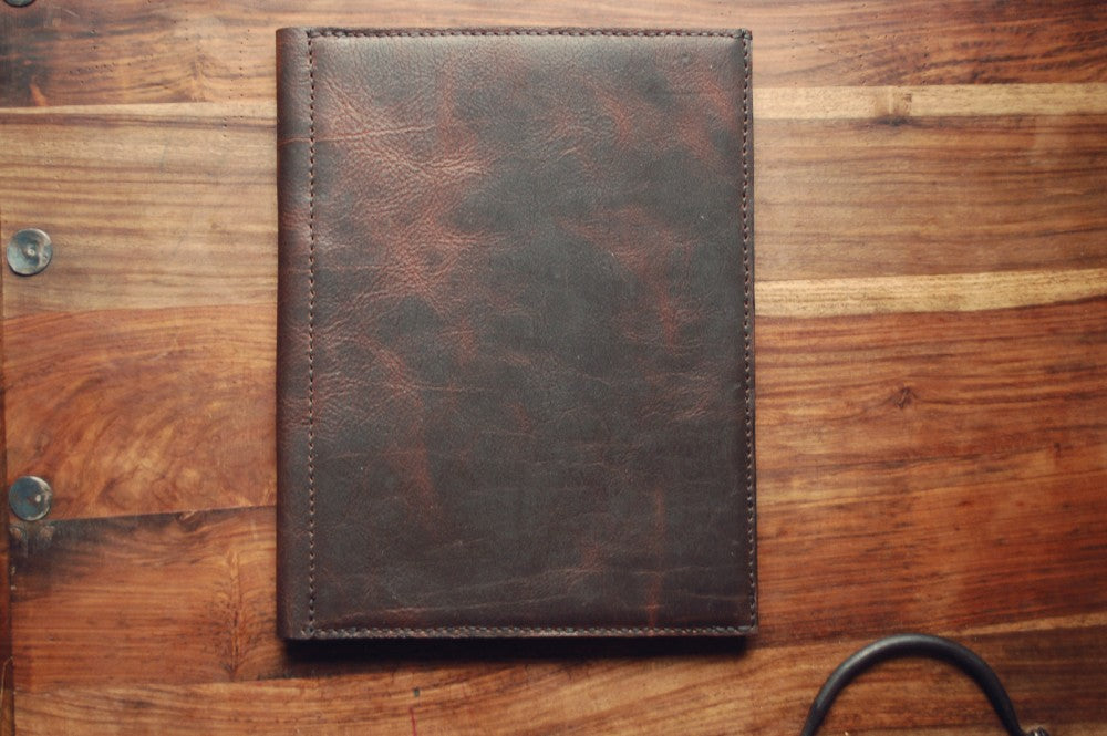 Horween Leather Notepad Holder in Derby Brown Nut by Craft and Lore