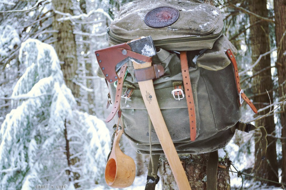 Bushcraft Day Pack at Wolf Lodge Creek Winter Hike