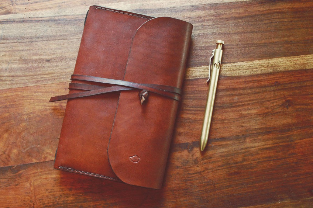 Moleskine Cahier Leather Cover Woodlander