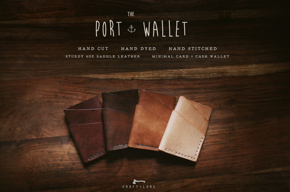 The Port Wallet. Minimal Handmade Leather Wallet
