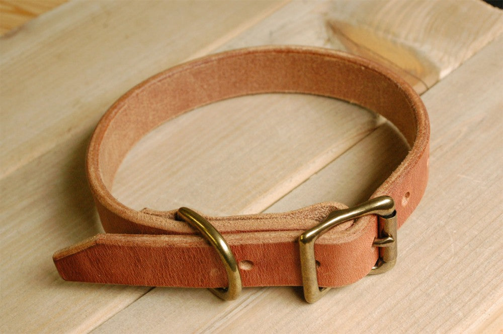 Leather Dog Collar, Handmade Harness Leather