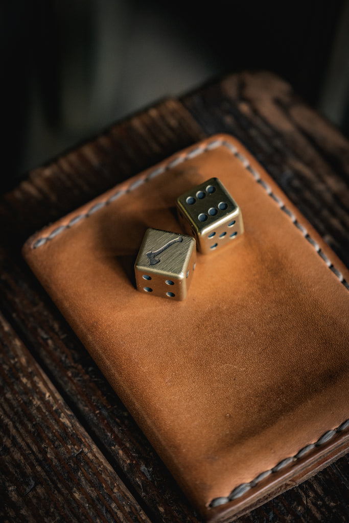 Solid Brass Dice Axmark Craft and Lore