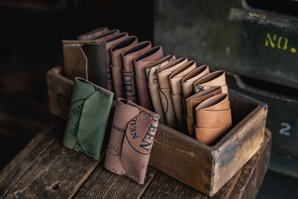 Horween Shell Cordovan reversed leather minimal card wallets handmade durable quality