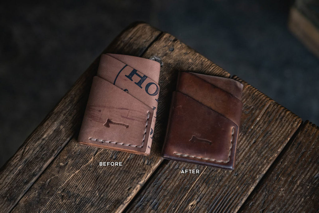 Horween Shell Cordovan reversed Port Wallet leather minimal card wallets handmade durable quality