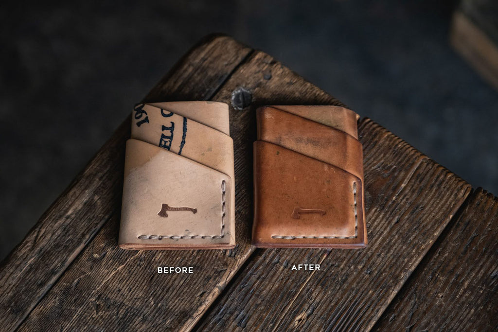 Horween Shell Cordovan Port Wallet reversed leather minimal card wallets handmade durable quality