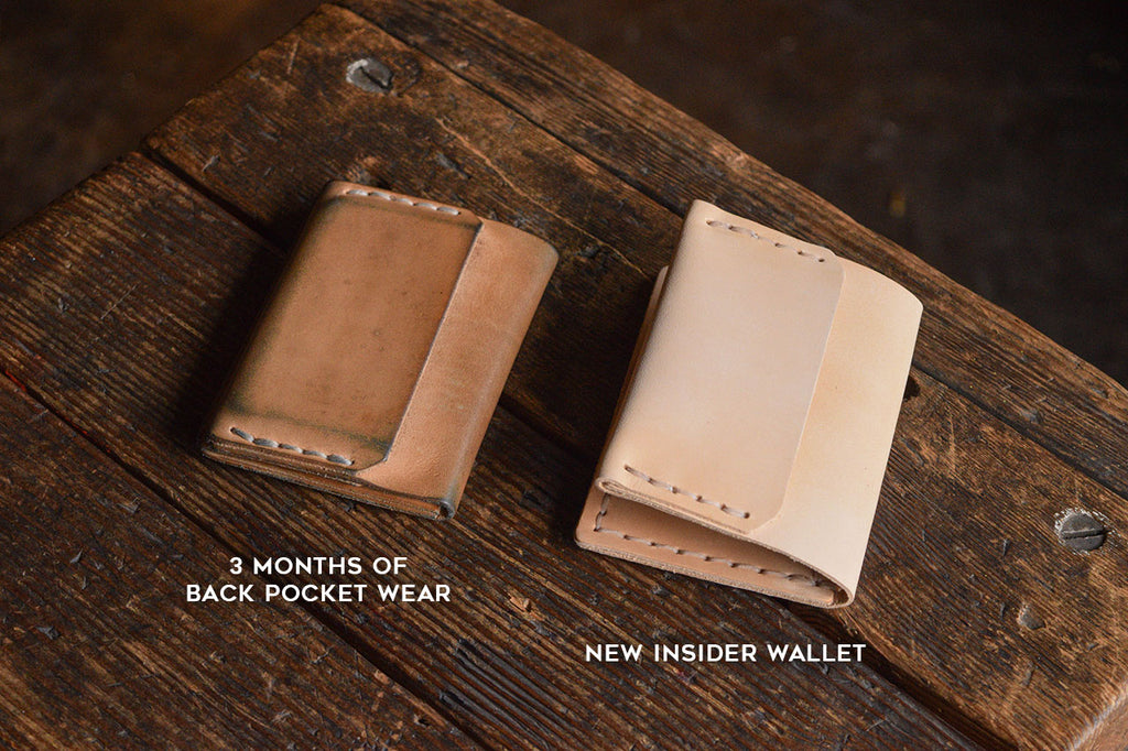 Insider Wallet, Natural Veg Tan patina
