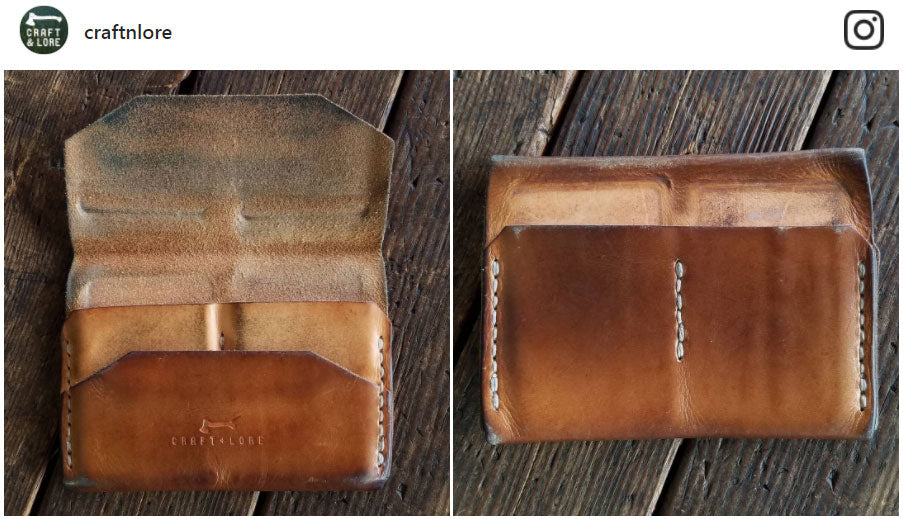 Enfold Wallet Natural Veg Patina