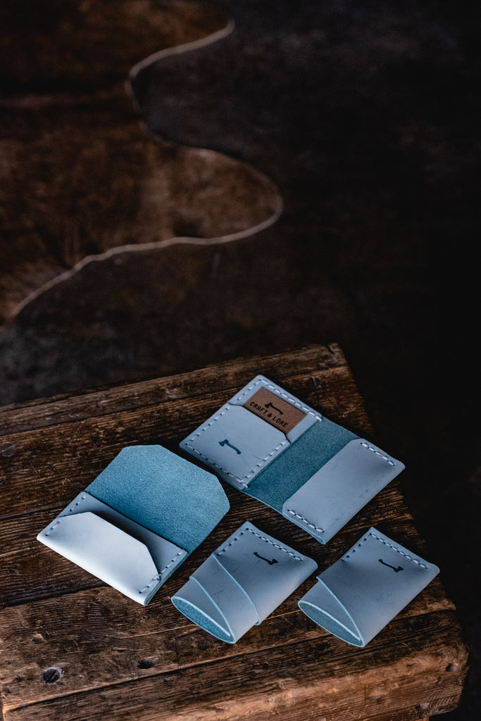 Ghost Blue - Limited Run Leather Wallets from Craft and Lore