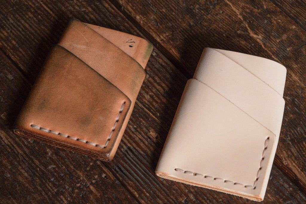 Natural Veg Tan Patina Port Wallet