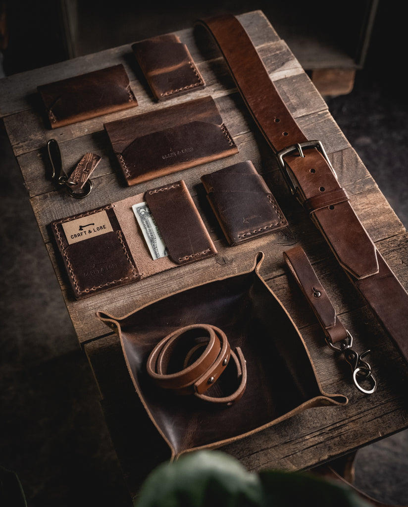 Rustic Kit handmade leather goods bundle from Craft and Lore