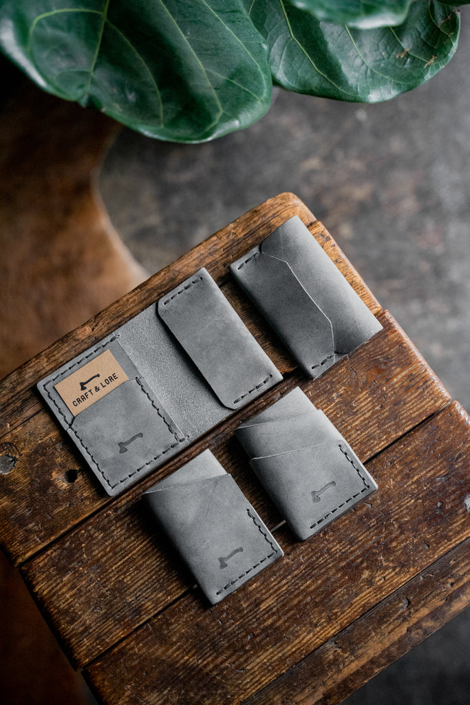 Scotch Slate limited run of our popular leather wallets