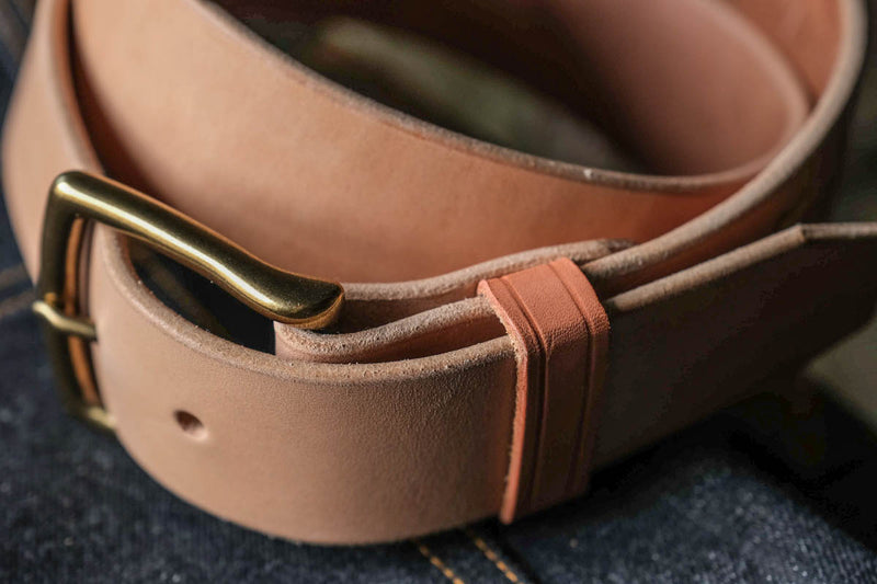 Craft Belt Natural Veg Thick Leather Handmade Durable Rugged Patina Craft and Lore