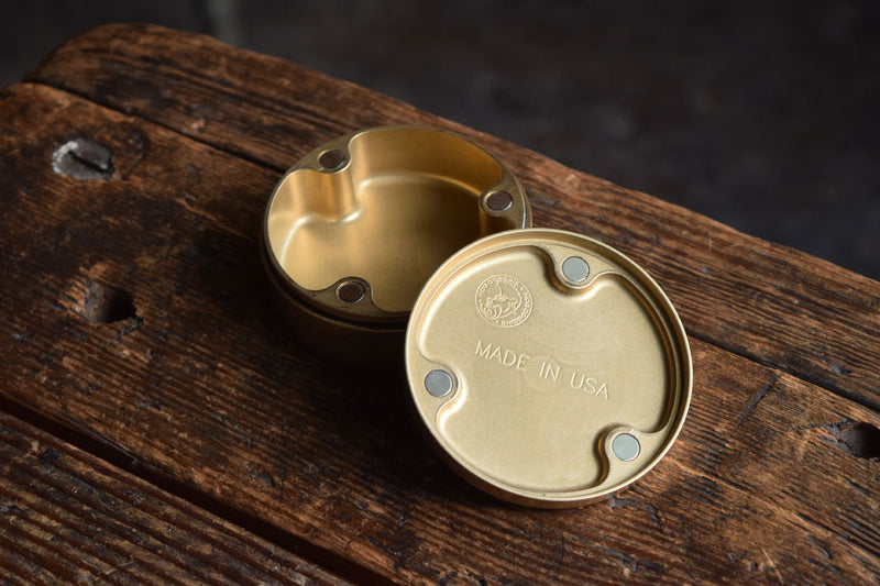 PocketPuck solid brass edc container magnet lid