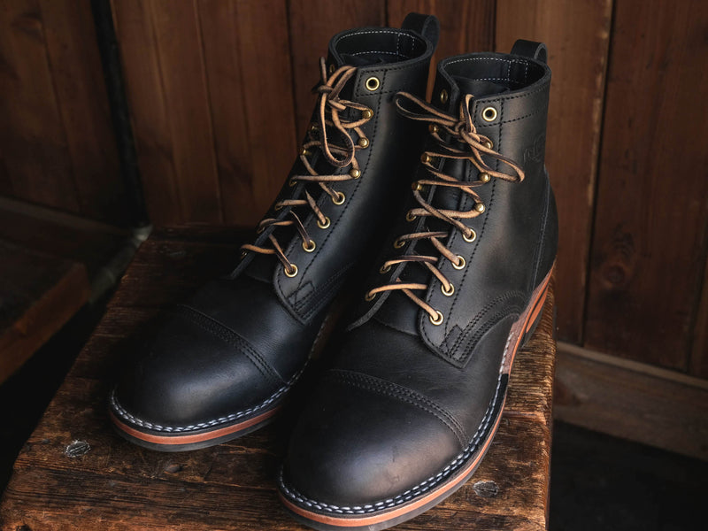 Task Boot Handmade Leather Boots Nick's Boots Spokane Durable Light Medium Duty Work Tailored USA Made