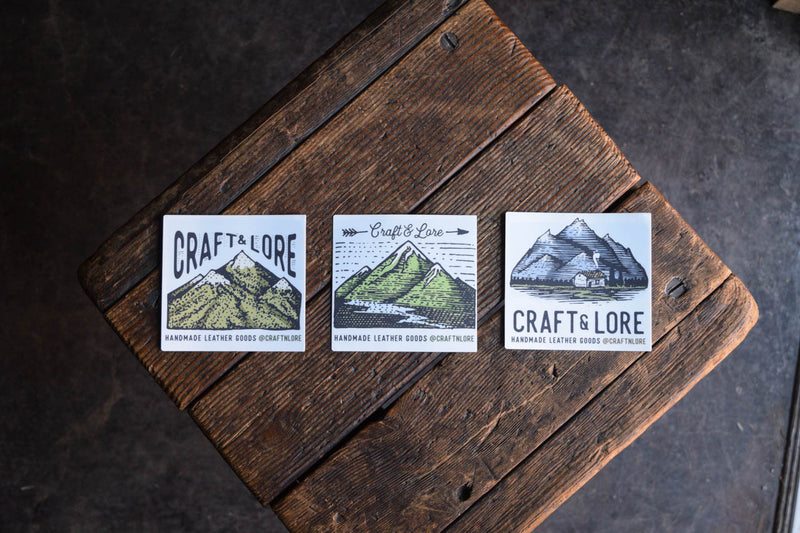 Mountains Cabin River Lake Sticker Matte Quality Craft and Lore Durable Explore Adventure Wander PNW Sticker Design