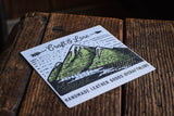 Mountain River Sticker Matte Quality Craft and Lore Durable Explore Adventure Wander PNW Sticker Design