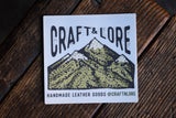 Mountains Sticker Matte Quality Craft and Lore Durable Explore Adventure Wander PNW Sticker Design