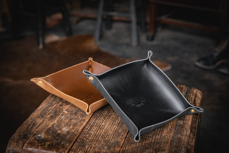 EDC Valet Tray, Leather Catch-all for Everyday Carry Handmade