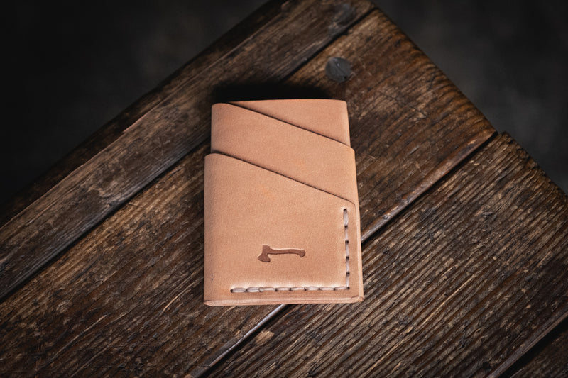 Original Port Wallet Craft and Lore handmade leather minimal card cash wallet durable hand stitched quality rugged classic