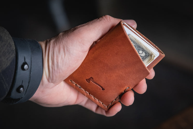 Twobit Wallet handmade minimal leather card usa made everyday carry patina durable rugged quality