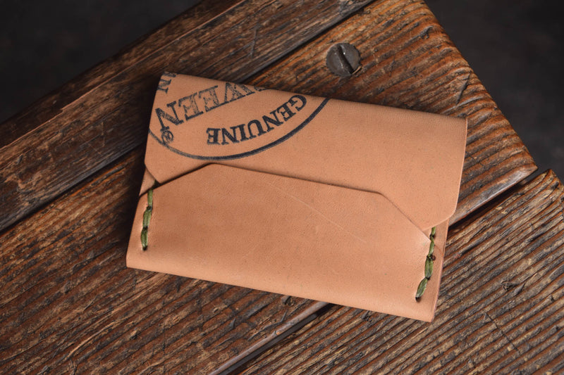 Horween Shell Cordovan Enfold Card Wallet by Craft and Lore Handmade