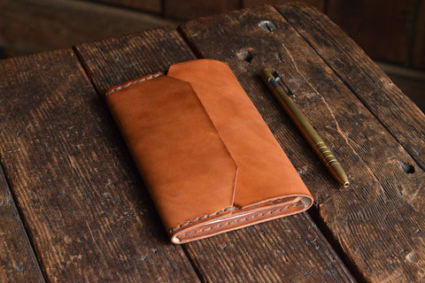 Enfold Field Notes Leather Notebook Cover, Hand dyed and handmade leather journal