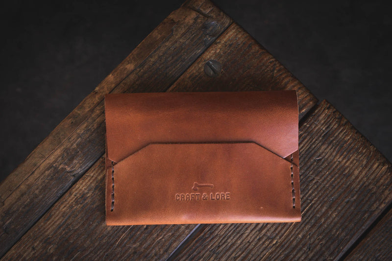 Enfold Wallet Horween Dublin Handmade Quality Durable Alternative Unique Original Design Style