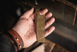 HogsTooth Brass pocket comb beard hair grooming everydaycarry precision usa made patina quality edc style